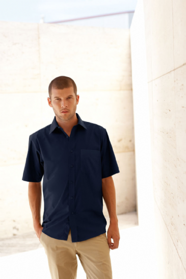 Fruit Of The Loom Short Sleeve Poplin Shirt SS116